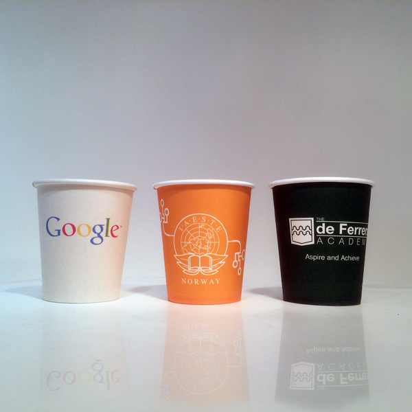 Custom paper coffee cups with logo