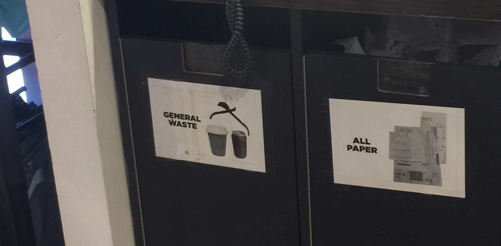 Paper Cups as General Waste
