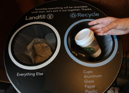 Starbucks - Coffee Cups Recycle Bin