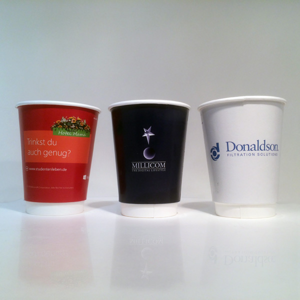 Branded Coffee Cups - Double Wall Printed Paper Cups