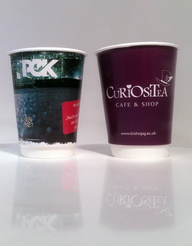 Branded Coffee Cups - Double Walled Disposable Coffee Cups